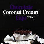 Chocolate Coconut Cream Cups. Easy to make. Only requires 4 ingredients. Dark chocolate plus creamy coconut whipped cream. #glutenfree #vegan