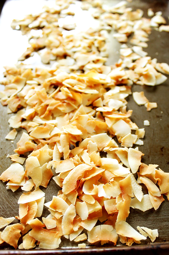Toasted Coconut for Coconut Crunch Ice Cream #vegan #glutenfree