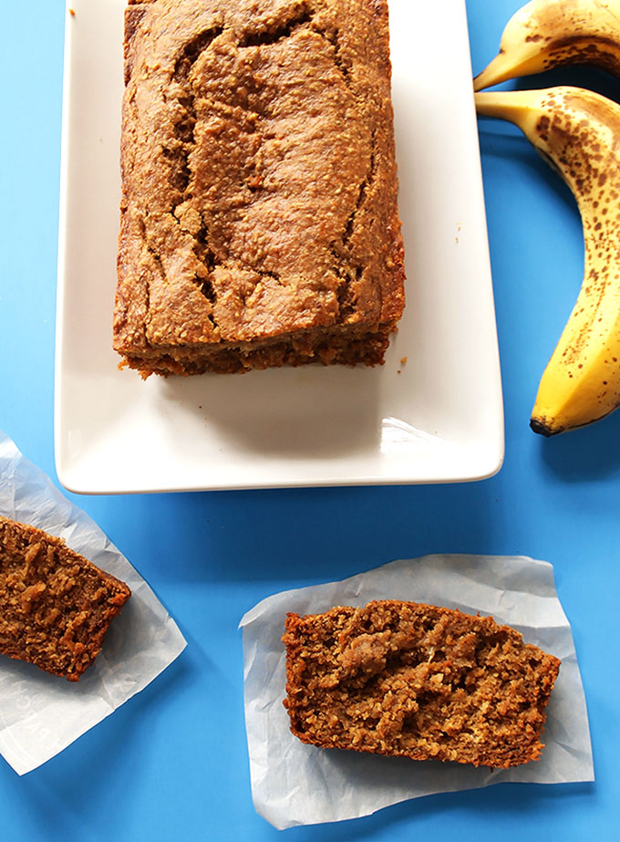 Banana Sweet Potato Bread. So easy and delicious! #glutenfree