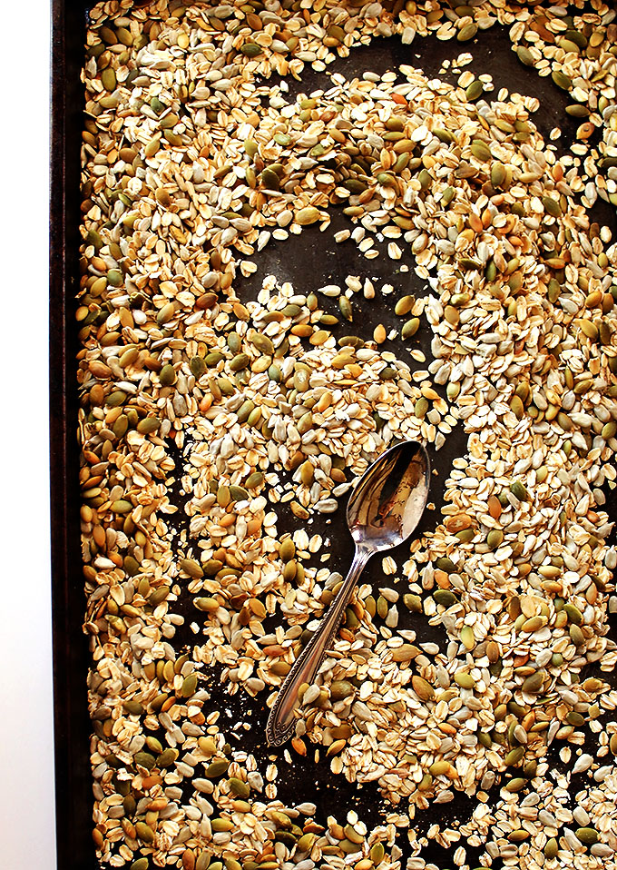 Toasted oats and seeds!