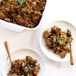 A Healthier Stuffing for Thanksgiving. Made with Ezekiel bread. Hearty, filling, healthy!