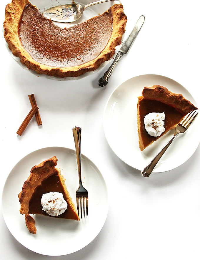 Gluten Free Pumpkin Pie. So Simple. So Delicious! Perfect for Thanksgiving!