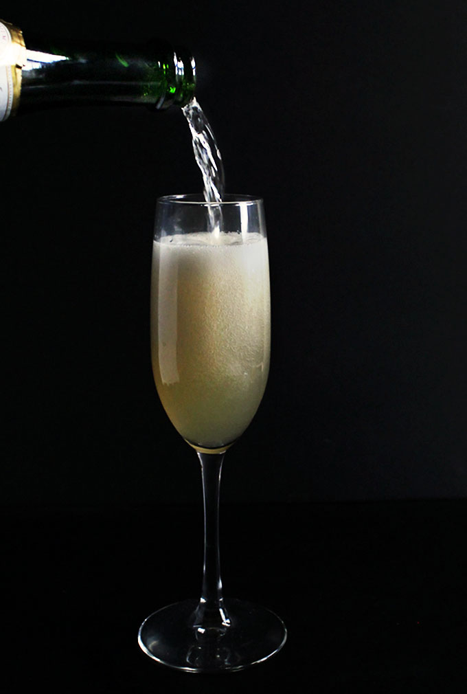 Pear Mimosa. Sweet pear with a touch of cinnamon AND some bubbly!