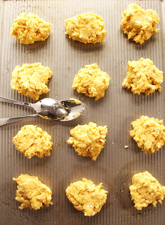 Gluten Free Cornbread Drop Biscuits. The best gluten-free biscuits ever!
