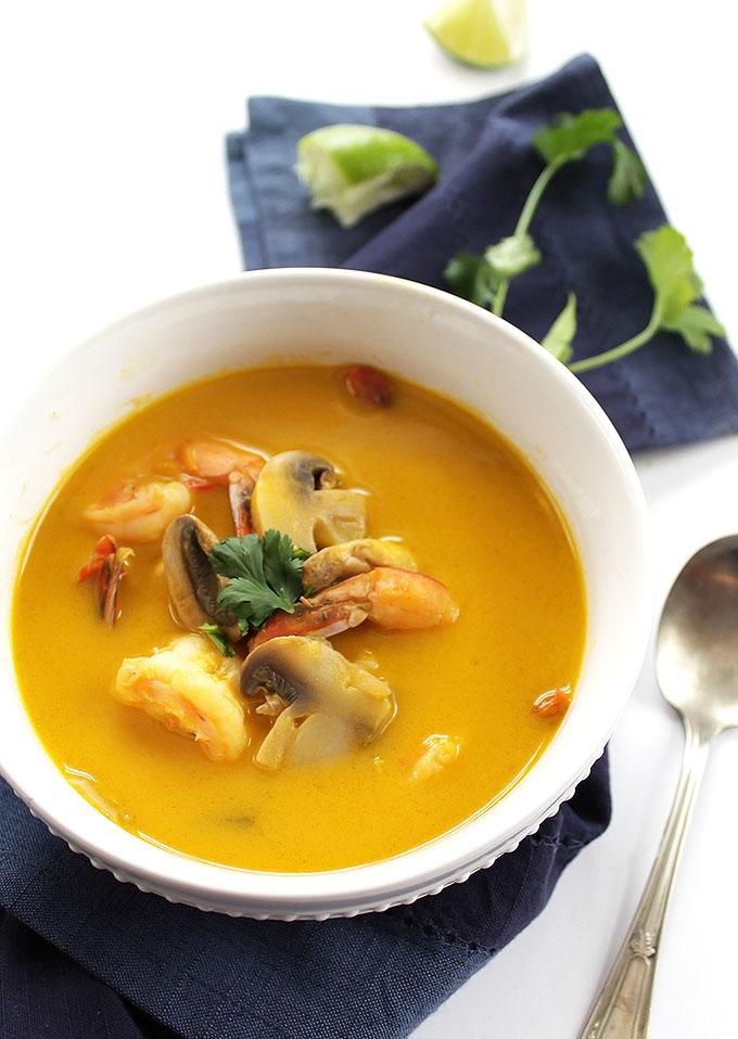 Thai Sweet Potato Soup with Shrimp