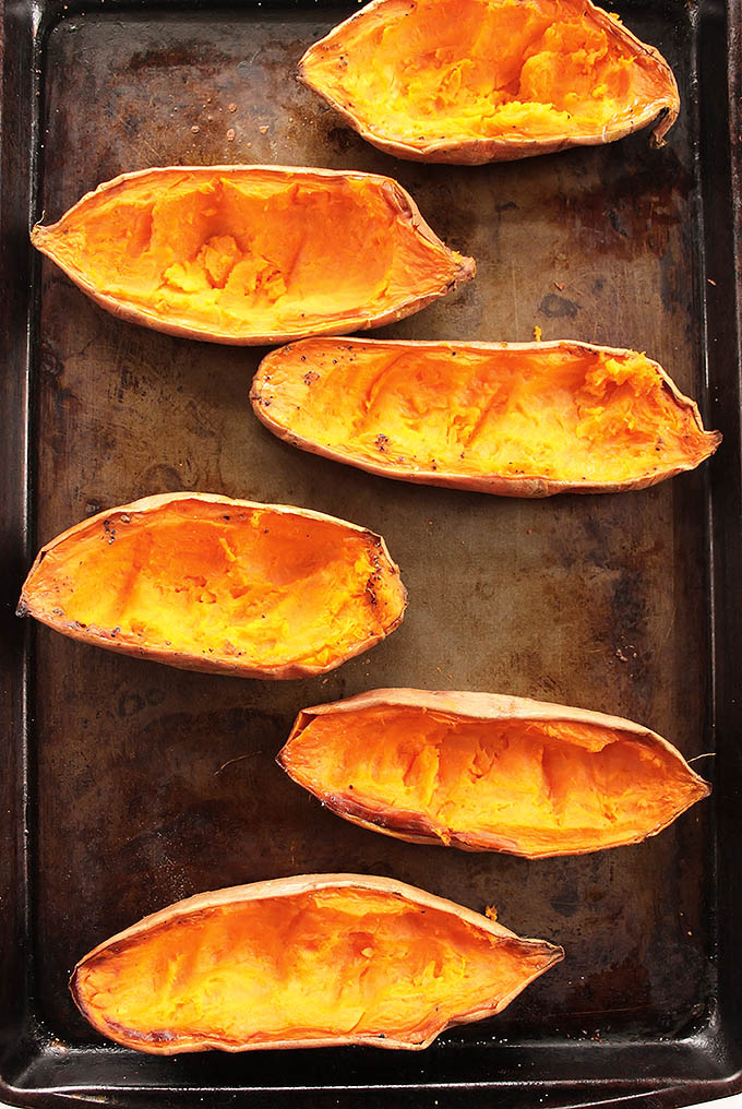 Sweet Potato Salmon Melts - Baked Sweet potatoes for salmon melts! | robustecipes.com