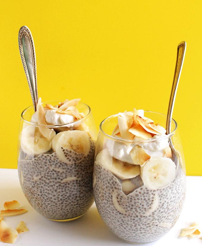 Coconut Banana Chia Seed Pudding (V + GF)