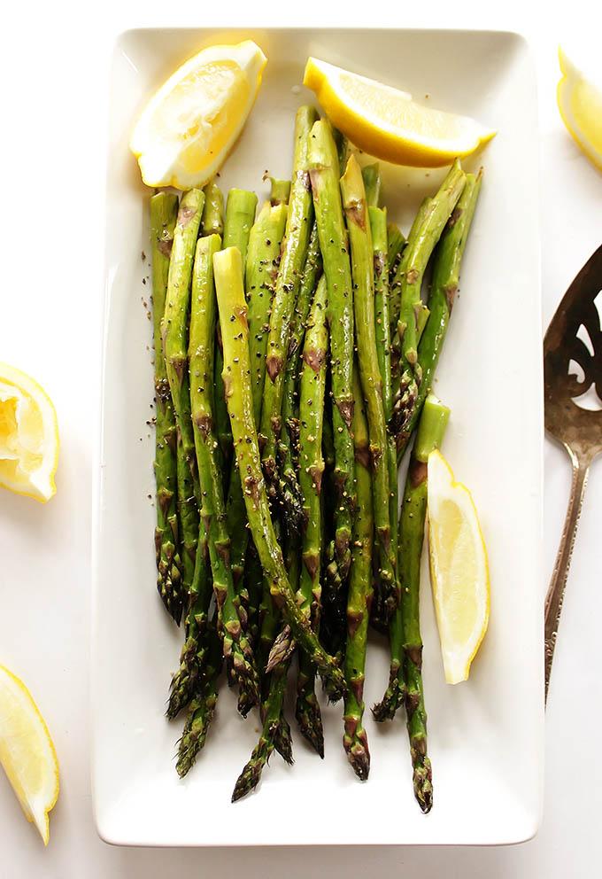 Easy Lemon Roasted Asparagus