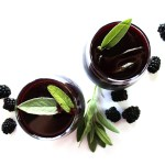 Blackberry Sage Red Wine Sangria - An EASY, refreshing sangria that's perfect for summertime parties. It's bursting with sweet blackberries and has hints of earthy sage. Vegan/Gluten Free.
