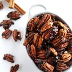 5 Minute Spiced Pecans - Plus only 7 ingredients! These pecans make the perfect snack/appetizer, are great on salads, or oatmeal. This recipe is super EASY to make! Gluten free/vegan/refined sugar free | robustrecipes.com