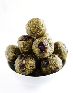 Matcha Cherry Energy Balls