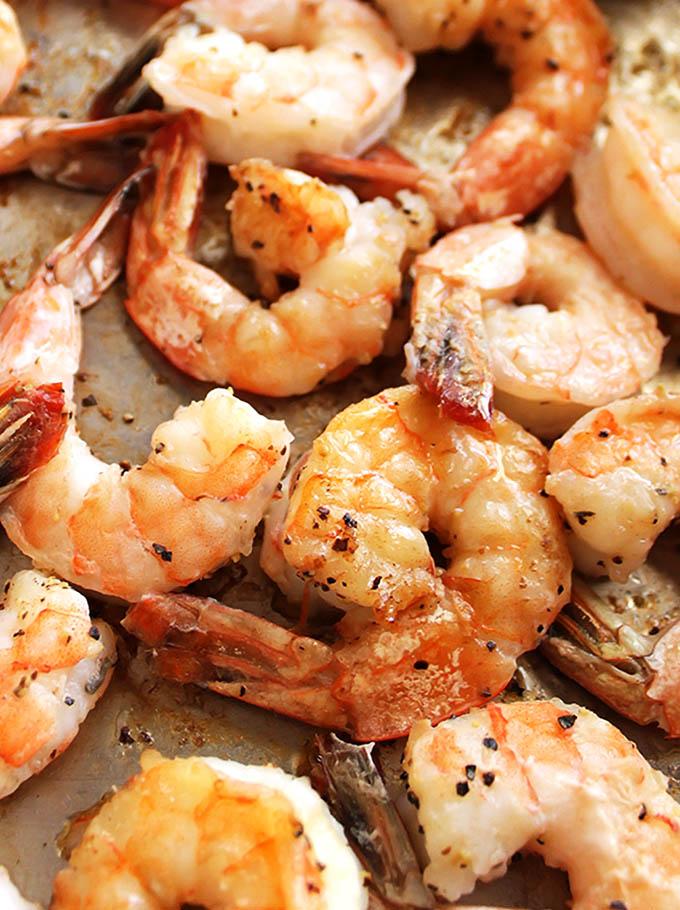 Shrimp for Cauliflower Fried rice | robustecipes.com