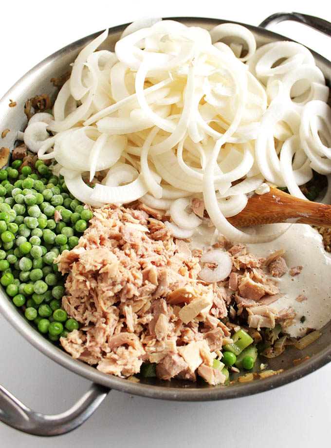 Gluten Free Tuna Noodle Casserole with Turnip Noodles. Dairy Free/Gluten Free | robustrecipes.com