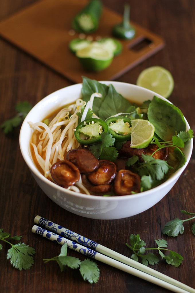 16 Gluten Free Soups for When You're Sick - 30 Minute Vegetarian Pho | robustrecipes.com