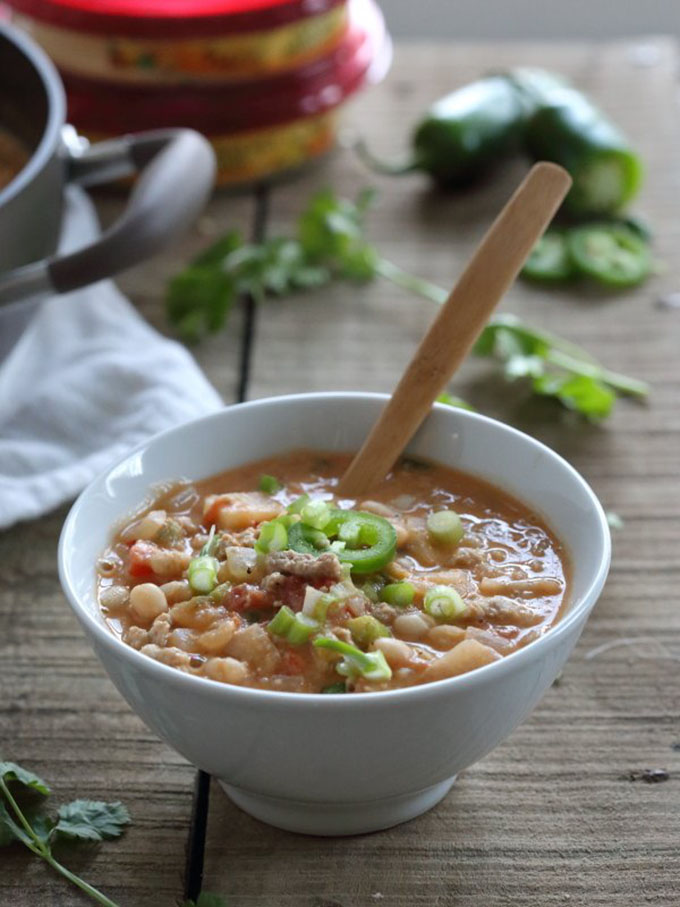 16 Gluten Free Soups for When You're Sick - Spicy Hummus Turkey Chili | robustrecipes.com