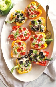 35 Minute Pizza Stuffed Peppers