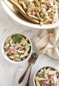 Mayo Free Pasta Salad (V + GF)