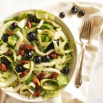 Shaved Asparagus Salad with Spiced Almonds - This recipe is easy to make. Bursting with fresh spring time produce, fennel, shaved asparagus, butter lettuce, fresh blueberries, and 5 minute spiced almonds! It's the perfect spring time side salad! Gluten Free/Vegan/ Dairy Free/ Vegetarian   robustrecipes.com