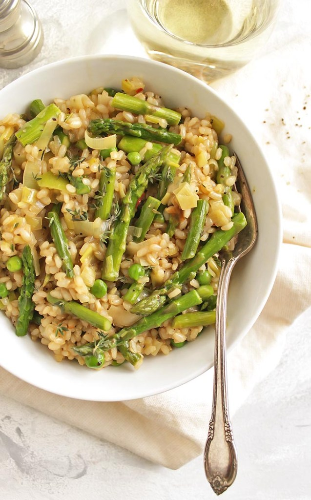 Brown Rice Spring Risotto