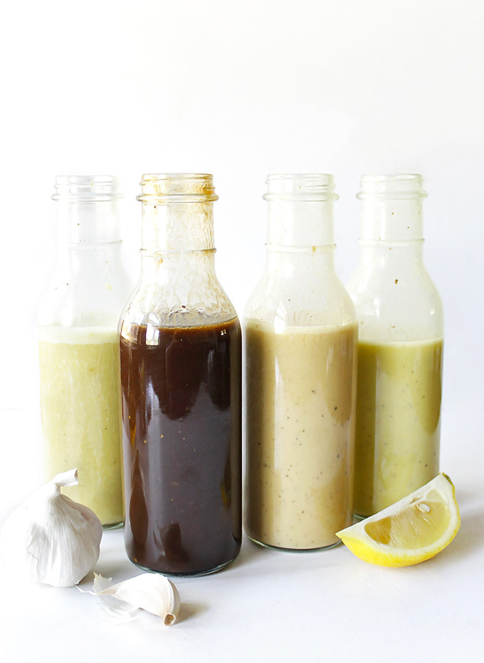 How to make Vinaigrette Dressing for Salads - My basic recipe formula that uses 6 simple ingredients to make your own vinaigrette dressings. Plus ideas on how to add a unique twist to your dressings! Soon you'll be a vinaigrette making master! Gluten Free | robustrecipes.com