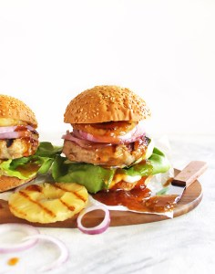 Pineapple Turkey Burgers with Homeade Teriyaki Sauce