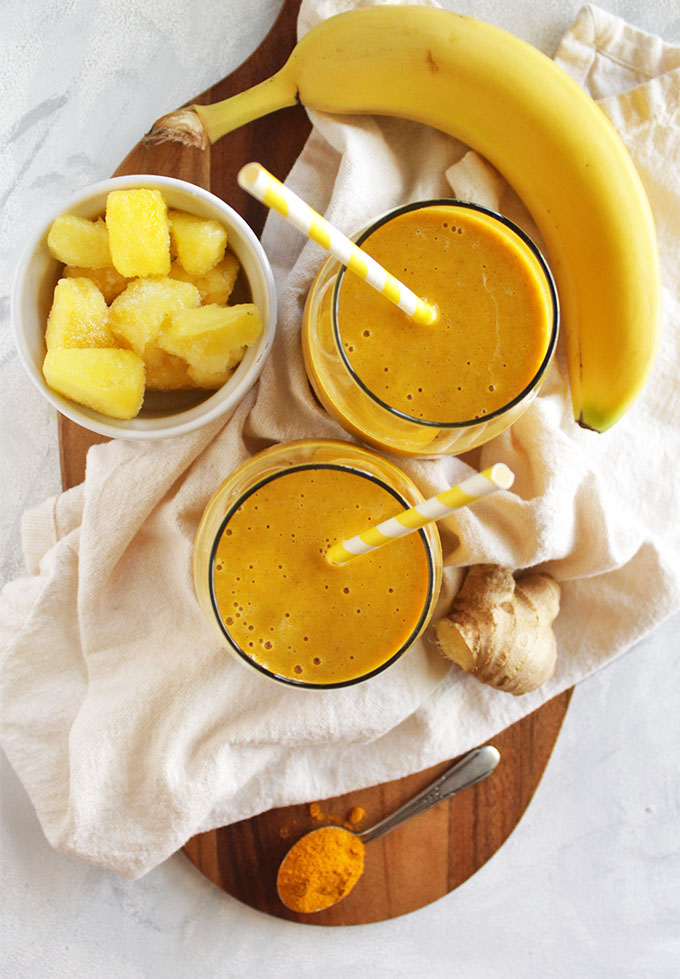Pineapple Ginger Turmeric Smoothie