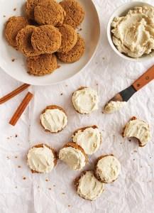 Soft Pumpkin Cookies with Cashew Frosting (Gluten Free)