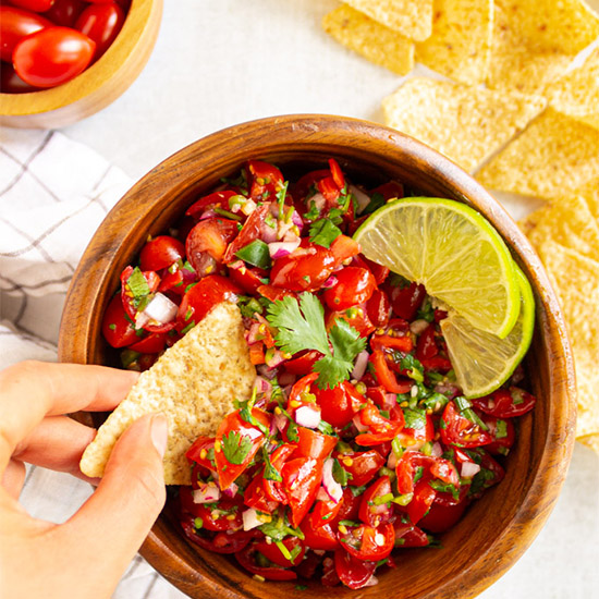 Fresh Grape Tomato Salsa Aka Pico De Gallo Robust Recipes