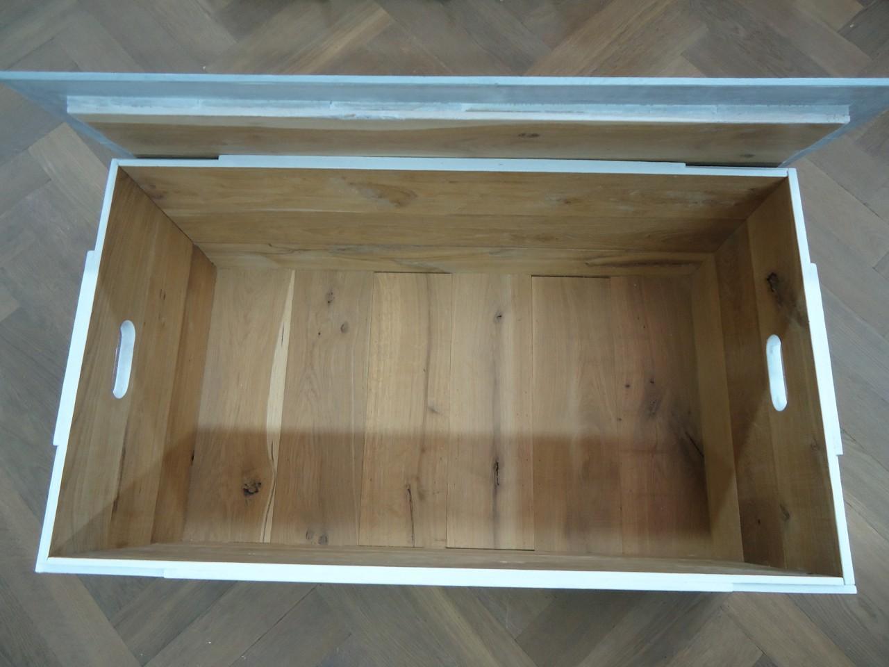 Weer een nieuwe houten robuuste kist bedacht en gemaakt