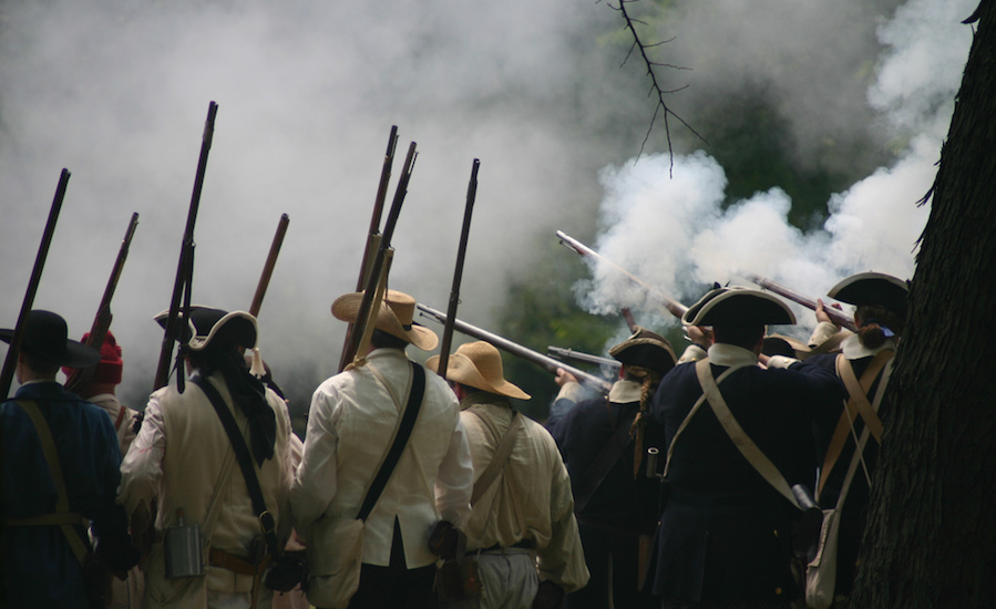 revolutionary war re-enactment