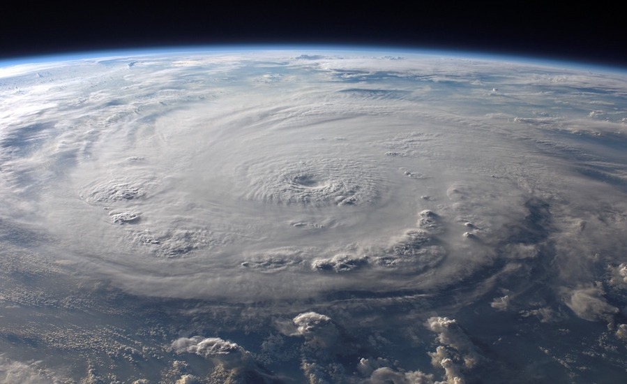 hurricane seen from space