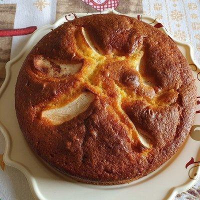 Torta Soffice all'arancia e mele