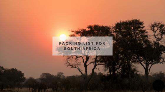 Packing List for South Africa