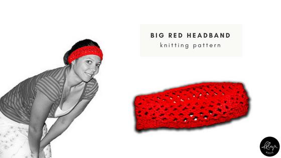 big red headband knitting pattern