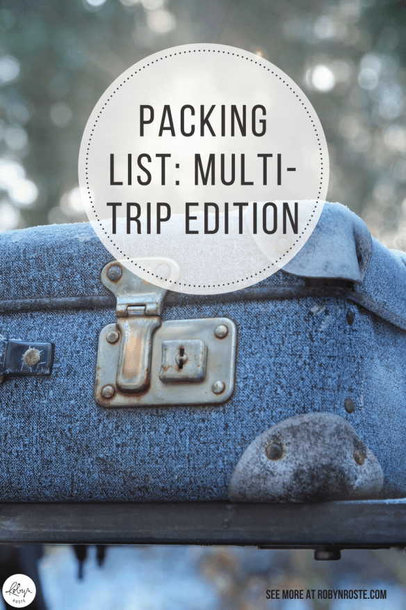 When you're doing multi-trips for work, how do you pack? This is my best attempt at a packing list for multi-work trips. You're welcome!
