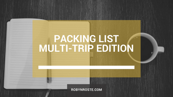 Packing List Multi-Trip Edition