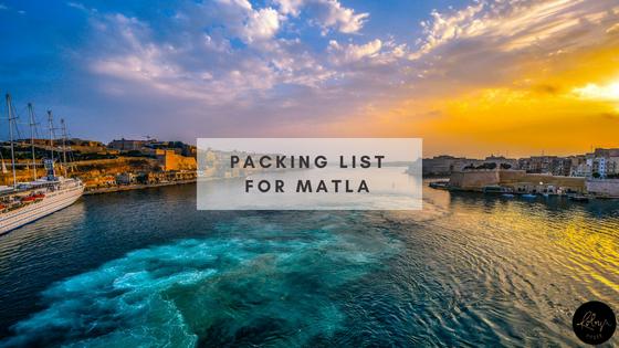 Packing list for Malta
