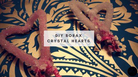 DIY Borax Crystal Hearts