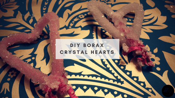DIY Borax Crystal Hearts