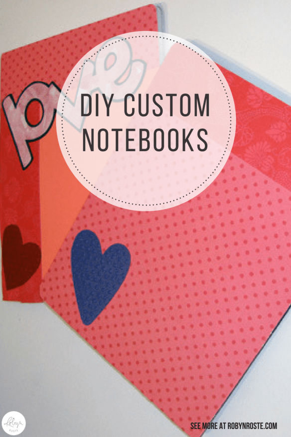 I wanted to create great custom notebooks for under $5 but I'm not that crafty so the project kind of freaked me out. But I persevered and it turned out OK!