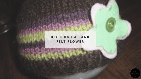 DIY Kids Hat and Felt Flower