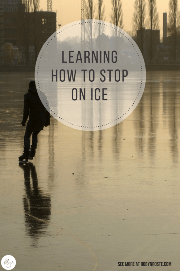 Learning how to stop on ice is an important skill and one of the main reasons I hear for people not going ice skating. Because they don't know how to stop.
