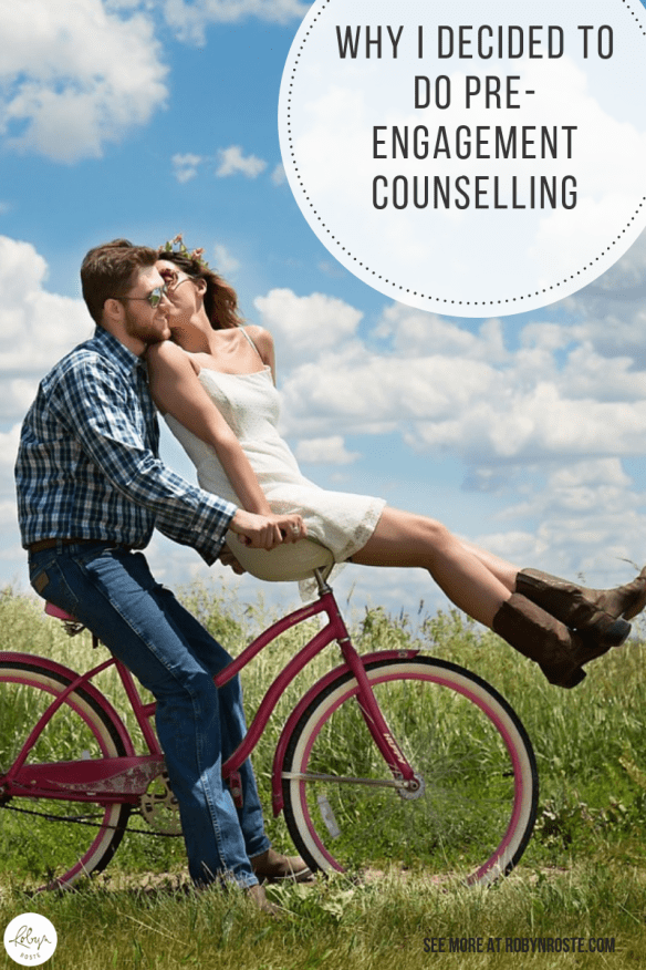 """It must have been two or more years ago I first heard about something called """"pre-engagement counselling."""" At first I thought it was kind of a strange thing but slowly I warmed up to the idea."""