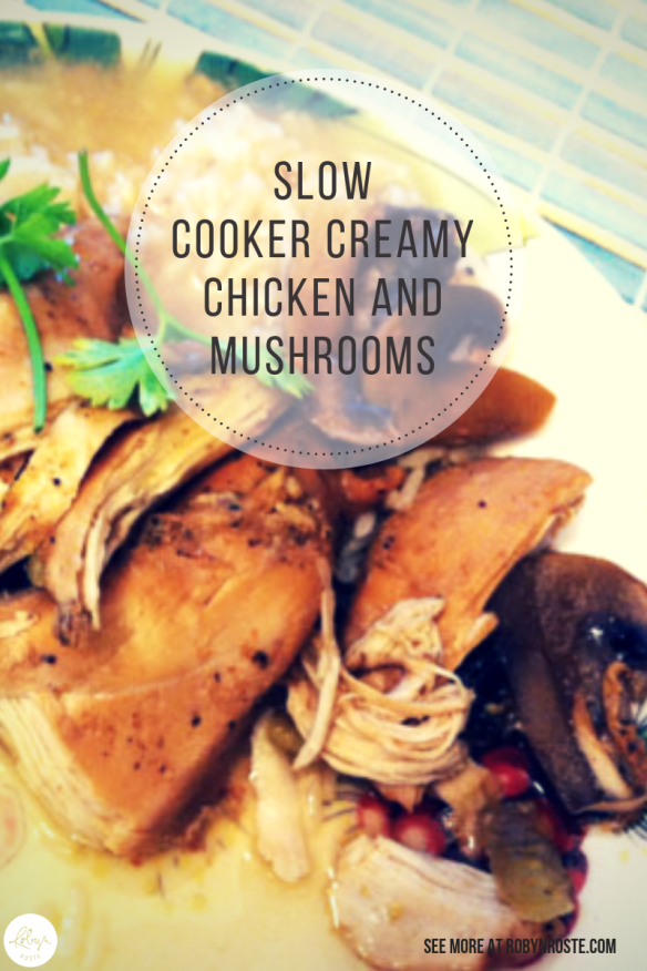I decided since my cookbook was so straightforward, I would find an easy recipe. I decided on creamy chicken and mushrooms because the picture looked tasty.