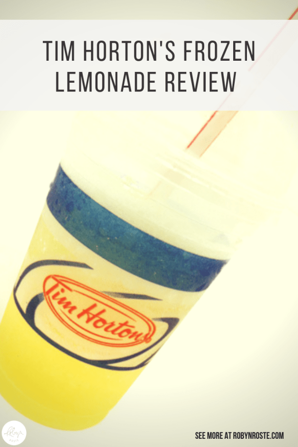 I was beyond relieved and excited when I was invited to try the new Tim Horton's frozen lemonade and not donuts. Beyond relieved. And also excited.
