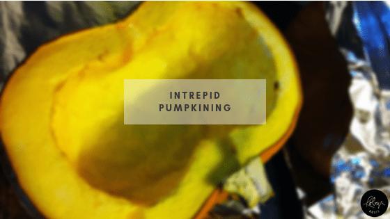 Intrepid pumpkining with pumpkins