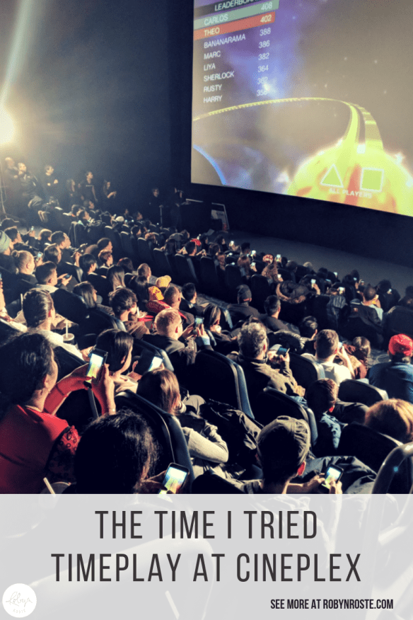 It was not the first time I used my phone at the movies…but it was completely justified because I was invited to try out TimePlay at the Vancouver launch.