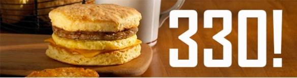 Tim Hortons breakfast sandwich calorie count