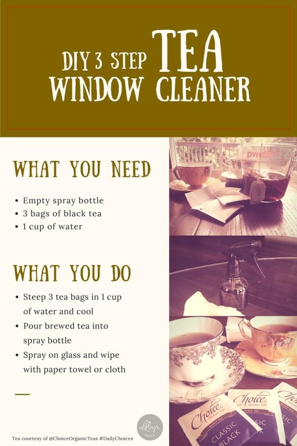 DIY Black Tea Window Cleaner Instructions