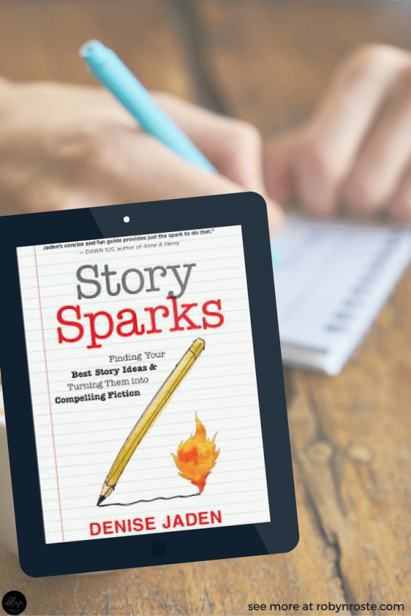 Story Sparks. S.P.A.R.K.S. An acronym of author Denise Jaden's own making, this concise 166-page book talks us and then walks us through how to come up with ideas and keep the idea train running at full steam.